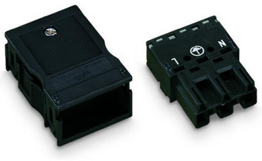 Netz-Steckverbinder Serie (Netzsteckverbinder) WINSTA MIDI Stecker, gerade Gesamtpolzahl: 3 25 A Schwarz WAGO 25 St.