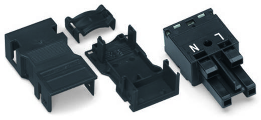Netz-Steckverbinder Serie (Netzsteckverbinder) WINSTA MIDI Buchse, gerade Gesamtpolzahl: 2 25 A Weiß WAGO 770-122/041-0
