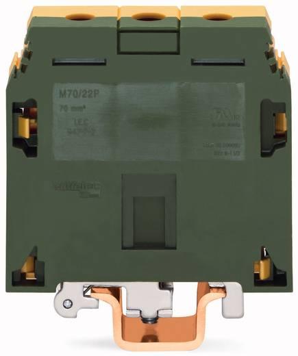 Schutzleiterklemme 22 mm Schrauben Belegung: PE Grün-Gelb WAGO 400-499/499-024 10 St.