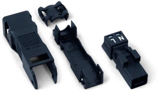 Netz-Steckverbinder Serie (Netzsteckverbinder) WINSTA MINI Stecker, gerade Gesamtpolzahl: 2 16 A Schwarz WAGO 50 St.