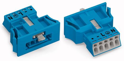 Netz-Steckverbinder WINSTA MINI Serie (Netzsteckverbinder) WINSTA MINI Stecker, gerade Gesamtpolzahl: 5 16 A Blau WAGO