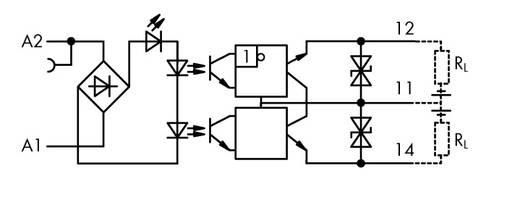 Optokopplerrelais 25 St. 24 V/DC 500 mA 1 Wechsler WAGO 859-732