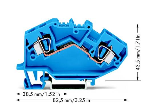 Durchgangsklemme 8 mm Zugfeder Belegung: N Blau WAGO 782-604 25 St.