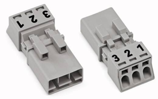 Netz-Steckverbinder Serie (Netzsteckverbinder) WINSTA MINI Stecker, gerade Gesamtpolzahl: 3 16 A Grau WAGO 50 St.