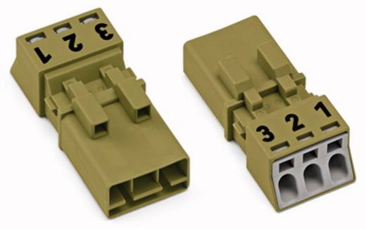 Netz-Steckverbinder Serie (Netzsteckverbinder) WINSTA MINI Stecker, gerade Gesamtpolzahl: 3 16 A Hellgrün WAGO 50 St.