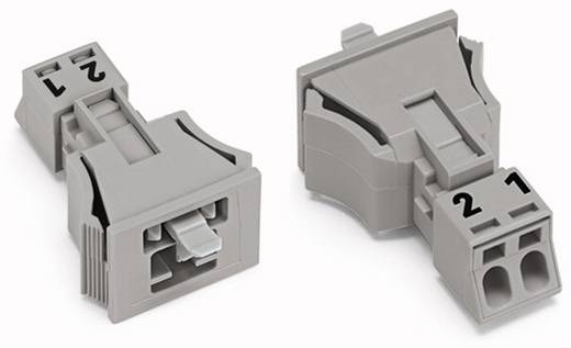 Netz-Steckverbinder Serie (Netzsteckverbinder) WINSTA MINI Stecker, gerade Gesamtpolzahl: 2 16 A Grau WAGO 890-752 50 S