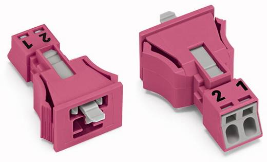 Netz-Steckverbinder WINSTA MINI Serie (Netzsteckverbinder) WINSTA MINI Stecker, gerade Gesamtpolzahl: 2 16 A Pink WAGO