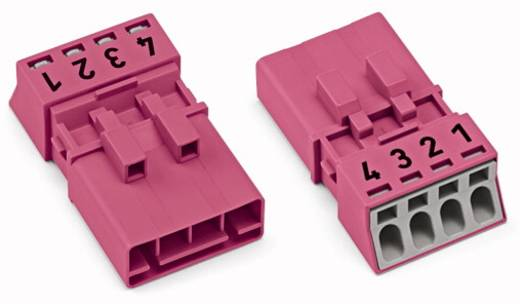 Netz-Steckverbinder WINSTA MINI Serie (Netzsteckverbinder) WINSTA MINI Stecker, gerade Gesamtpolzahl: 4 16 A Pink WAGO