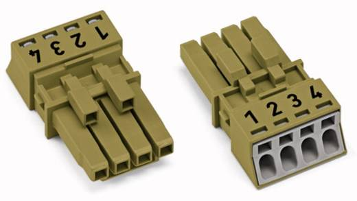 Netz-Steckverbinder Serie (Netzsteckverbinder) WINSTA MINI Buchse, gerade Gesamtpolzahl: 4 16 A Hellgrün WAGO 50 St.