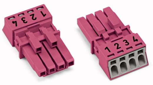 Netz-Steckverbinder Serie (Netzsteckverbinder) WINSTA MINI Buchse, gerade Gesamtpolzahl: 4 16 A Pink WAGO 50 St.