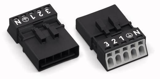Netz-Steckverbinder Serie (Netzsteckverbinder) WINSTA MINI Stecker, gerade Gesamtpolzahl: 5 13 A Weiß WAGO 890-235 50 S