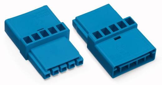 Netz-Zwischenkupplung Netz-Stecker - Netz-Buchse Gesamtpolzahl: 5 Blau WAGO 50 St.