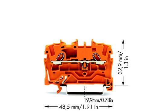 Durchgangsklemme 4.20 mm Zugfeder Orange WAGO 2001-1202 100 St.