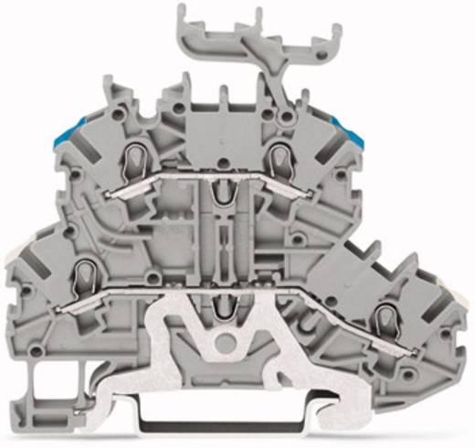 Doppelstock-Durchgangsklemme 3.50 mm Zugfeder Belegung: L Grau WAGO 2000-2258 50 St.
