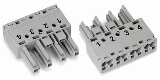 Netz-Steckverbinder WINSTA MIDI Serie (Netzsteckverbinder) WINSTA MIDI Buchse, gerade Gesamtpolzahl: 4 25 A Grau WAGO 5