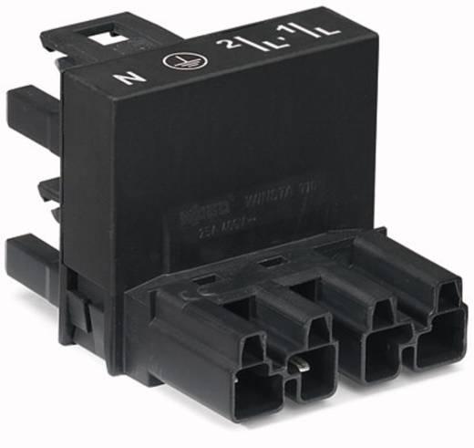 Netz-H-Verteiler Netz-Stecker - Netz-Buchse, Netz-Buchse Gesamtpolzahl: 4 Schwarz WAGO 770-945 25 St.