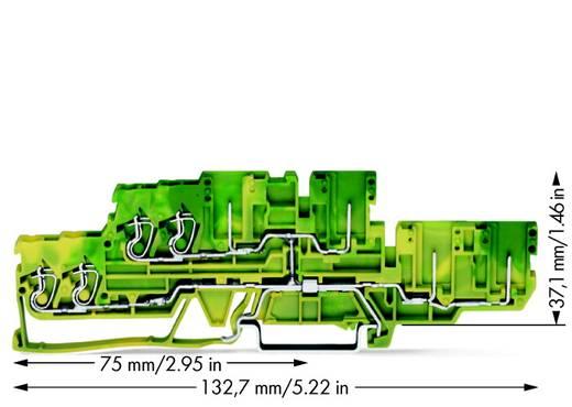 Doppelstock-Schutzleiterklemme 5 mm Zugfeder Belegung: PE Grün-Gelb WAGO 870-137 40 St.