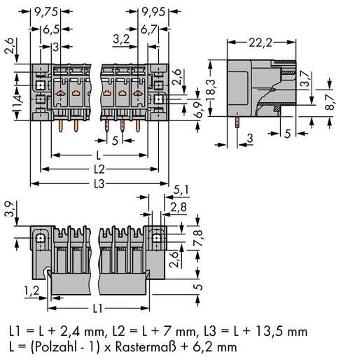 WAGO 769-669/004-000 Buchsengehäuse-Platine 769 Polzahl Gesamt 9 Rastermaß: 5 mm 25 St.