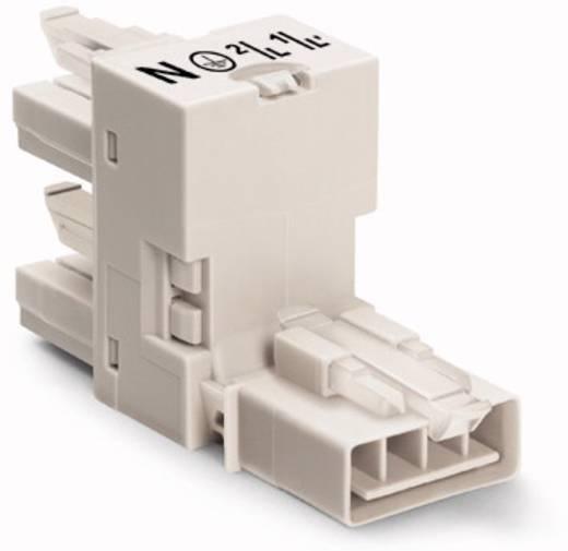 Netz-H-Verteiler Netz-Stecker - Netz-Buchse, Netz-Buchse Gesamtpolzahl: 4 Weiß WAGO 890-995 50 St.