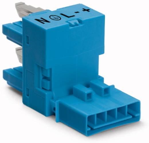Netz-H-Verteiler Netz-Stecker - Netz-Buchse, Netz-Buchse Gesamtpolzahl: 5 Schwarz WAGO 890-929 50 St.
