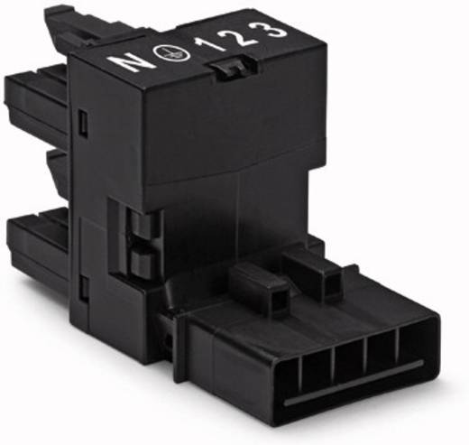 Netz-H-Verteiler Netz-Stecker - Netz-Buchse, Netz-Buchse Gesamtpolzahl: 5 Schwarz WAGO 50 St.