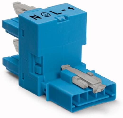 Netz-H-Verteiler Netz-Stecker - Netz-Buchse, Netz-Buchse Gesamtpolzahl: 5 Blau WAGO 50 St.