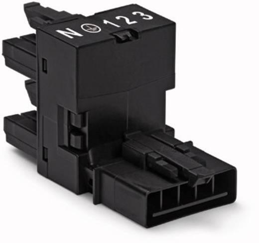Netz-H-Verteiler Netz-Stecker - Netz-Buchse, Netz-Buchse Gesamtpolzahl: 5 Schwarz WAGO 890-930 50 St.