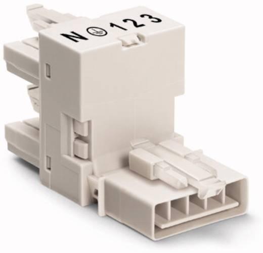 Netz-H-Verteiler Netz-Stecker - Netz-Buchse, Netz-Buchse Gesamtpolzahl: 5 Weiß WAGO 50 St.