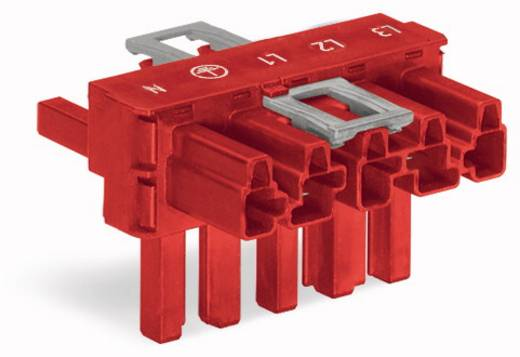 Netz-T-Verteiler Netz-Stecker - Netz-Buchse, Netz-Buchse Gesamtpolzahl: 5 Rot WAGO 50 St.