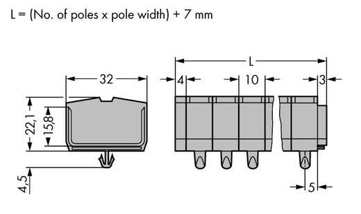 Klemmenleiste 10 mm Zugfeder Belegung: L Grau WAGO 264-254 50 St.