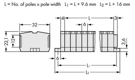 Klemmenleiste 6 mm Zugfeder Belegung: L Grau WAGO 264-138 50 St.