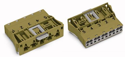 Netz-Steckverbinder Serie (Netzsteckverbinder) WINSTA MIDI Stecker, gerade Gesamtpolzahl: 5 25 A Hellgrün WAGO 100 St.