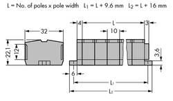 Barrette à bornes WAGO 264-207 10 mm ressort de traction Affectation des prises: L gris 50 pc(s)