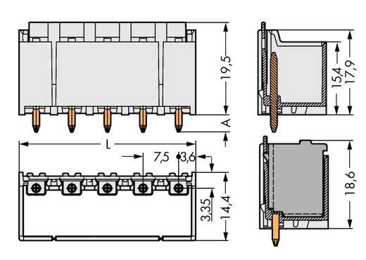 Stiftgehäuse-Platine 2092 Polzahl Gesamt 4 WAGO 2092-3404 Rastermaß: 7.50 mm 100 St.