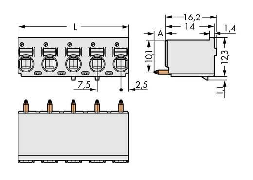 Stiftgehäuse-Platine 2092 Polzahl Gesamt 5 WAGO 2092-3155 Rastermaß: 7.50 mm 100 St.