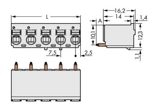 WAGO 2092-3154 Stiftgehäuse-Platine 2092 Polzahl Gesamt 4 Rastermaß: 7.50 mm 100 St.
