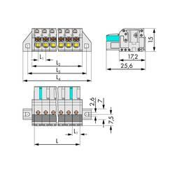 Zásuvkové púzdro na kábel WAGO 2721-116/031-000, 94.80 mm, pólů 16, rozteč 5 mm, 10 ks