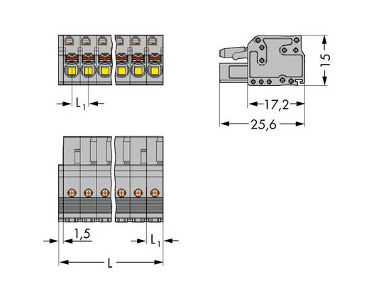 Buchsengehäuse-Kabel 2231 Polzahl Gesamt 4 WAGO 2231-104/026-000 Rastermaß: 5 mm 100 St.