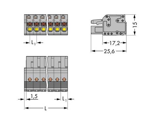 WAGO 2231-115/026-000 Buchsengehäuse-Kabel 2231 Polzahl Gesamt 15 Rastermaß: 5 mm 25 St.