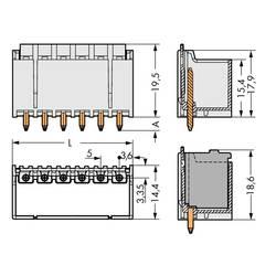 Konektor do DPS WAGO 2092-1403/200-000, 21.90 mm, pólů 3, rozteč 5 mm, 200 ks