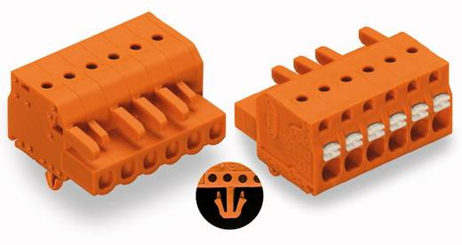 Buchsengehäuse-Kabel 2231 Polzahl Gesamt 7 WAGO 2231-307/008-000 Rastermaß: 5.08 mm 50 St.