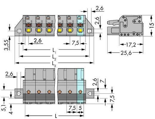WAGO Buchsengehäuse-Kabel 2231 Polzahl Gesamt 3 Rastermaß: 7.50 mm 2231-203/031-000 50 St.