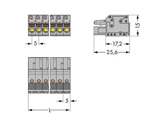 WAGO 2231-116/102-000 Buchsengehäuse-Kabel 2231 Polzahl Gesamt 16 Rastermaß: 5 mm 25 St.