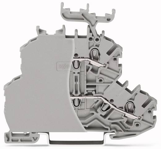 Doppelstock-Durchgangsklemme 4.20 mm Zugfeder Belegung: L, L Grau WAGO 2000-2201/099-000 50 St.