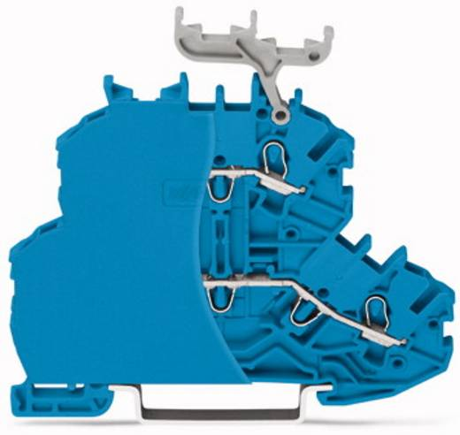 Doppelstock-Durchgangsklemme 4.20 mm Zugfeder Belegung: N, N Blau WAGO 2000-2204/099-000 50 St.