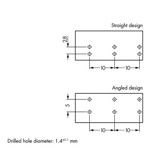 Netz-Steckverbinder Serie (Netzsteckverbinder) WINSTA MIDI Buchse, Einbau vertikal Gesamtpolzahl: 3 25 A Grau WAGO 100