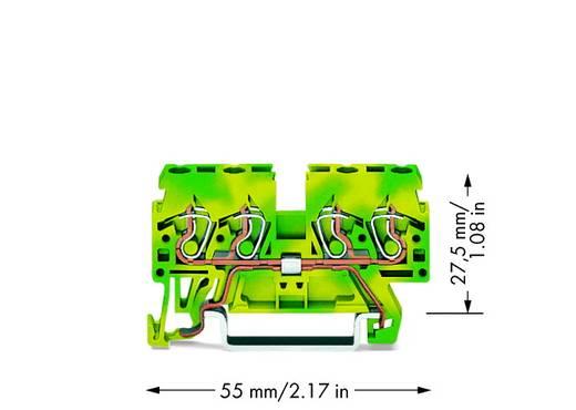Schutzleiterklemme 5 mm Zugfeder Belegung: PE Grün-Gelb WAGO 870-837 100 St.
