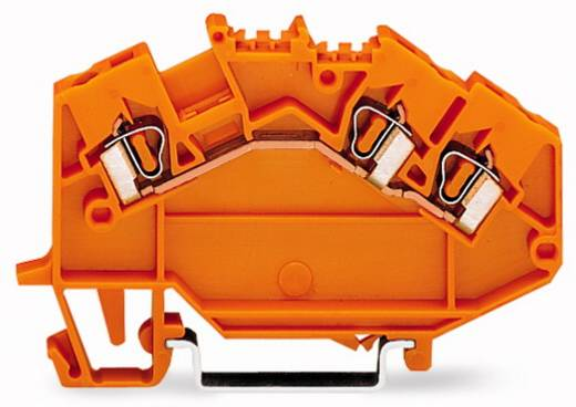 Durchgangsklemme 5 mm Zugfeder Orange WAGO 780-654 50 St.