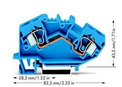 Bloc de jonction traversant WAGO 784-604 10 mm ressort de traction Affectation des prises: N bleu 25 pc(s)