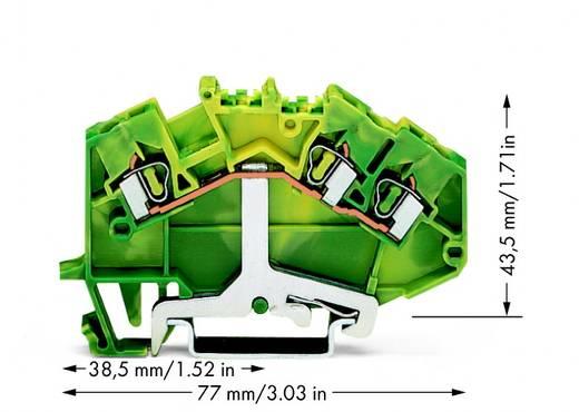 Schutzleiterklemme 5 mm Zugfeder Belegung: PE Grün-Gelb WAGO 780-637 50 St.